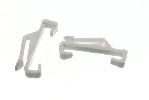 CURTAIN RAIL TRACK GLIDE GLIDER HOOKS TO FIT HARRISON SUPER WHITE ( pack 100 )