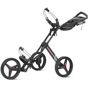 Sun Mountain Unisex Speed Cart GT Gunmetal-Red Push Cart, Gun-Red, Pull ()