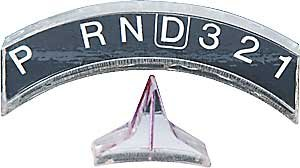 Ididit Steering 2600050010 Acrylic 4 speed Indicator with pointer