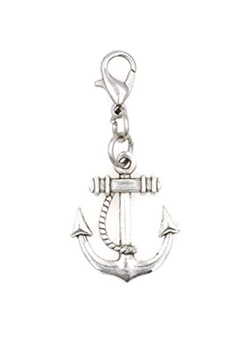 - 24mm Anchor Clip on Charm Bead Perfect for Necklaces and Bracelets 94U