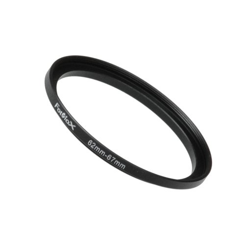 Fotodiox Metal Step Up Ring Filter Adapter, Anodized Black Aluminum 62mm-67mm, 62-67 mm ()