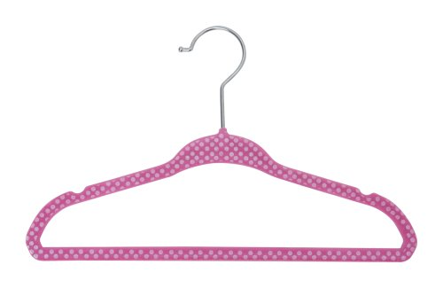 Delta Children Kids Velvet Hanger, Pink, 30 Count -