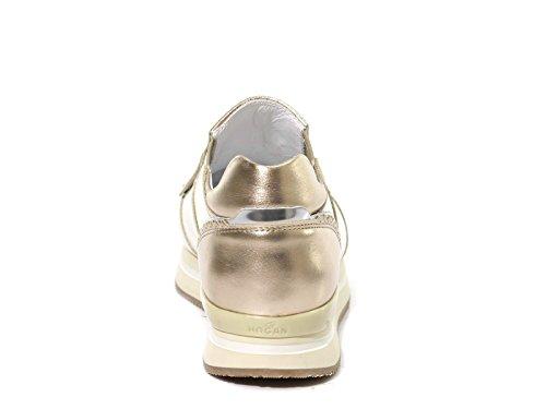 Modèle Hogan Argent Sneakers en Code Argent Cuir Lamé HXW2220X170DW70QX7 Slips Femme Fnw8xqfF7