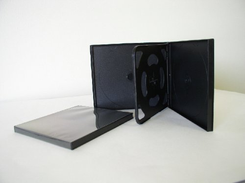 4 DISC QUAD POLY CD DVD CASE W/ SLEEVE,  - Cd Poly Slim Case Shopping Results