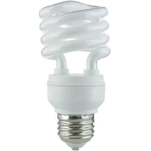 Sunlite SMS13/65K SMS13/65K 13-watt Super Mini Spiral Energy Saving Medium Base CFL Light Bulb, Daylight (Biax Cfl Lamps)