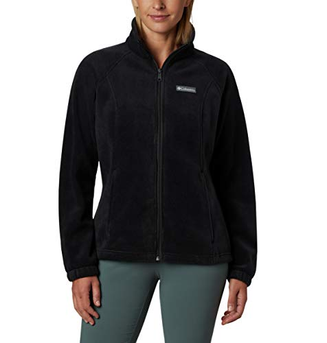 Columbia Women's Benton Springs Full Zip Jacket, Soft Fleece with Classic Fit, Black, XS