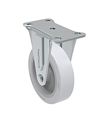 "Schioppa, FL 310 SP, 3"" (75 mm) Rigid Non-Brake Caster, Non-Marking Very Soft Rubber Wheel, 75 lbs, Plate: 2 x 2-1/2"" (BH 1 x 2"")"