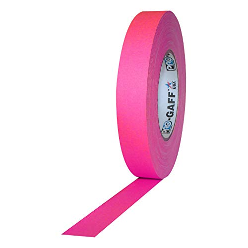 Pro Tapes Pro-Gaff-Neon Premium Fluorescent Gaffers Tape: 1 in. x 50 yds. (Fluorescent Pink) by Pro Tapes