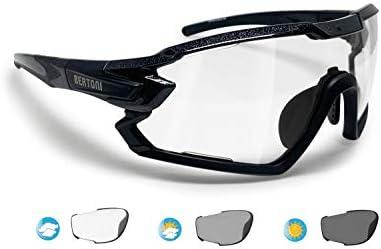 BERTONI Gafas Ciclismo Running MTB Esquí Tennis Padel Polaridas Fotocromaticas mod. Quasar (Negro/Fotocromaticas): Amazon.es: Deportes y aire libre