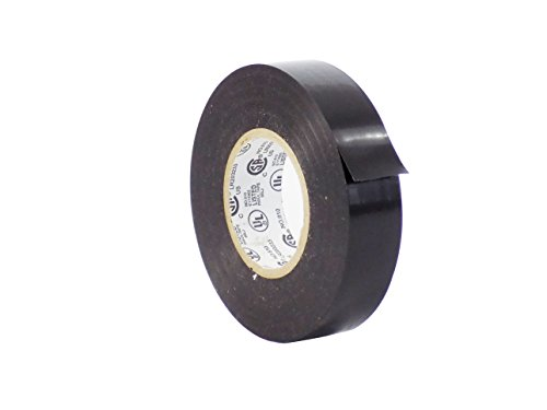 ional Grade General Purpose Black Electrical Tape UL/CSA listed core. Utility Vinyl Rubber Adhesive Electrical Tape: 3/4in. X 66ft. - Use At No More Than 600V & 176F (Pack of 1) ()