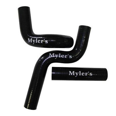 Mylers Silicone Radiator Hose Kit Black - Fits: Honda CRF450R 2013-2014 by Mylers