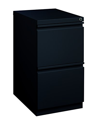 Pro Series Two Drawer Mobile Pedestal File Cabinet, Black, 20 inches deep (22288)