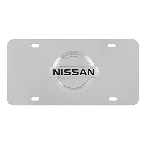 3d Nissan License Stainless Plate (Pilot Automotive Nissan 3D Logo License Plate Chrome)