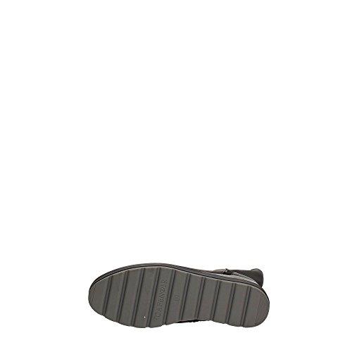 CAFèNOIR Cafè Noir CAF Noir DC424 Schwarzer Stretch-Stiefel Schuhe Frauen Plattformkeil Zip Nero