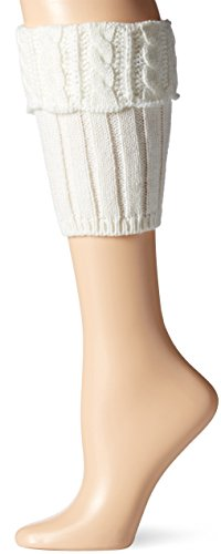 Steve Madden Women's Cable Boot Cuff, Off Off White 1-Size