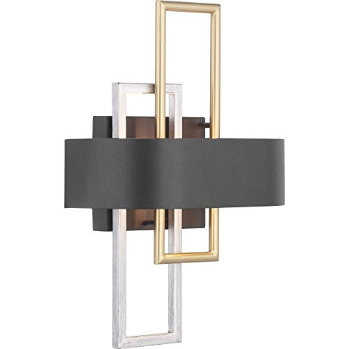 - Progress Lighting P710057-031 Adagio Collection Two-Light Wall Sconce, Black