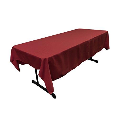"LA Linen Polyester Poplin Rectangular Tablecloth, 60"" x 90"","
