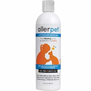 Allerpet Cat - Best Allergy Relief & Pet Dander Remover - Ditch Your Allergy Shampoo - 100% Non-Toxic & Safe for Pets, Good for Fur & Skin (12 oz) 28