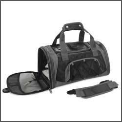 Sherpa Sport Duffle Pet Dog Cat Carrier Small Black 44070, My Pet Supplies