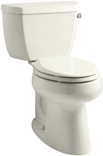 Kohler Biscuit Highline (KOHLER K-3658-RA-96 Highline Classic Comfort Height Two-Piece Elongated 1.28 Gpf Toilet with Class Five Flush Technology and Right-Hand Trip Lever, Biscuit)