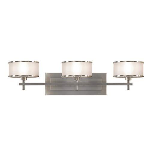 Sea Gull Lighting VS13703-BS Casual Luxury Three Light Vanity Fixture, Brushed - Luxury Wall Bracket Casual
