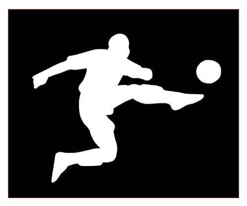 Soccer Player Peel - Soccer Player Vinyl Sticker Decals for Car Bumper Window MacBook pro Laptop iPad iPhone (3
