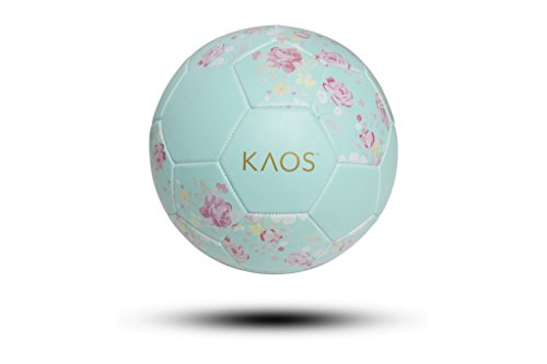 KAOS Flower Power, Training and Recreation Soccer Ball, Mint Floral, Size 3 (Flower Soccer)