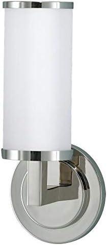 Feiss WB1323PN Industrial Revolution Glass Wall Vanity Bath Sconce Lighting