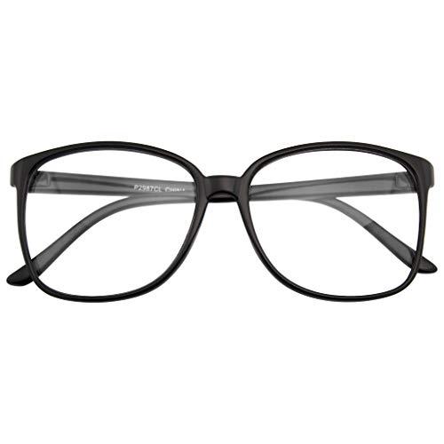 Large Oversized Glasses Clear Lens Thin Frame Nerd Glasses ()