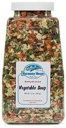 Harmony House Foods Soup Mix, Dried Vegetable, 12 Ounce Quart Size Jar