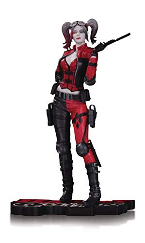 - DC Collectibles Harley Quinn Injustice 2 Statue, Black/White/Red