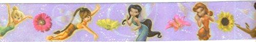 Satin Printed Disney Tinkerbell Fairies Ribbon - 3yards ()