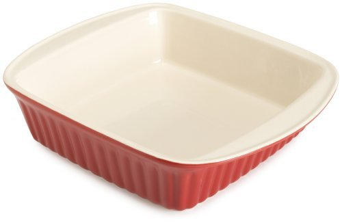 Good Cook 2 Quart Square Ceramic Dish, Red by Good Cook