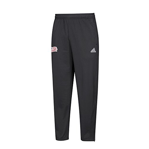 adidas MLS New England Revolution Men's Anthem Pant, Medium, Black