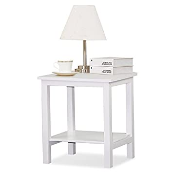 Tinkertonk White Pine Bedside Side Table Small Display Stand, Side, Coffee  Table