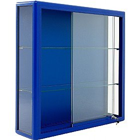 wall mounted glass display cabinet with sliding door amazon co uk