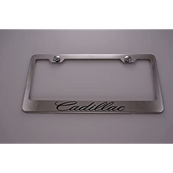 Amazon.com: Cadillac Chrome License Plate Frame with Caps: Automotive