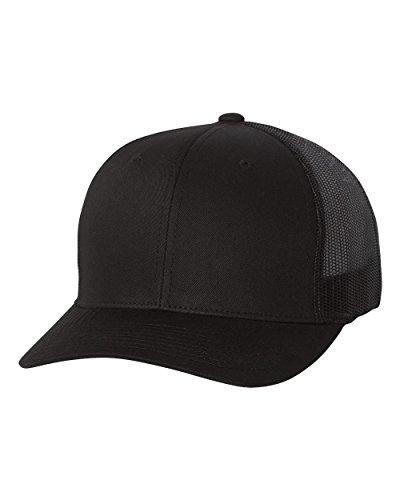 - Yupoong Flexfit 6606,6606T Retro Trucker Hat, Black, One Size
