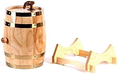 JIUYUE Whisky Decanter Wine Decanter Cask Wine en Roble, Oak Antique 1.5/05.03.10 litros Hecho a Mano con un Barril para la Cerveza Vino Cerveza Whiskey Harbor Licorera (Size : 5l)
