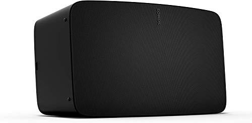Sonos Five WLAN-speaker, zwart, krachtige WLAN-luidspreker voor muziekstreaming met goed, kristalhelder stereo hifi…