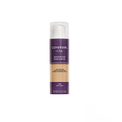COVERGIRL Advanced Radiance Age Defying Foundation Makeup Soft Honey, 1 oz (packaging may vary)