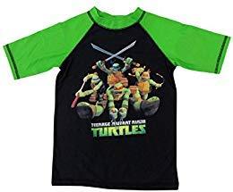 TMNT Ninja Turtles Boys Rashguard Shirt Swimwear -