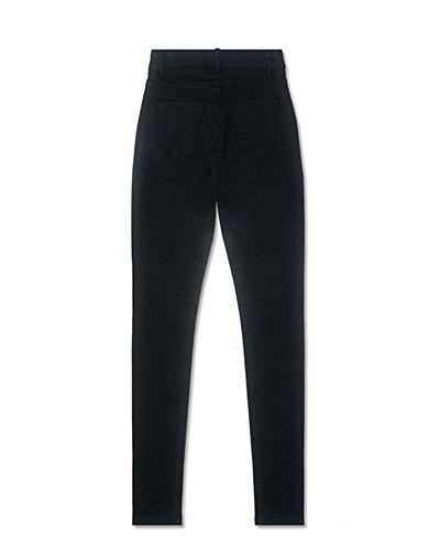 Pantaloni Donne Denim Libero Nero Jeans Tempo xrIqrH
