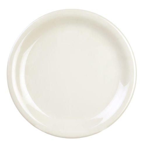 Narrow Rim Dinner Plate - Excellante 12-Piece Narrow Rim Plate, 9-Inch, Ivory
