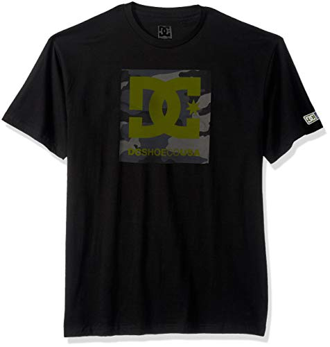 DC Apparel Men's Ken Block Founders Series Short Sleeve T-Shirt, Black KB camo Square Star sos, L