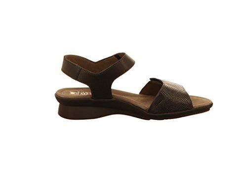 Pattie noir noir noir mode des sandales mephisto