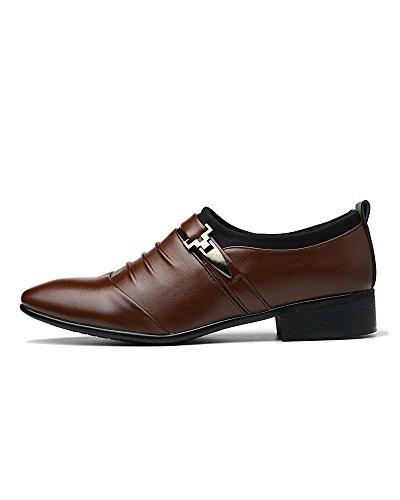 de de 48 CN clásicos Blancos la Tela Negros PU Zapatos de Boda Formales de 47 Zapatos Brown de Vestir Artificiales para de Colores 46 Lona 45 de Cuero A marrón Hombres Tamaño Negocios qSEHTwS