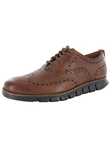 Cole Haan Men Zerogrand Wing Oxford CL II Sneaker Shoe, Tan/Dark Roast, US 15 W -