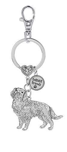 (Dog Lovers Forever Friends Zinc Key Chain w/Clip -Golden Retriever)