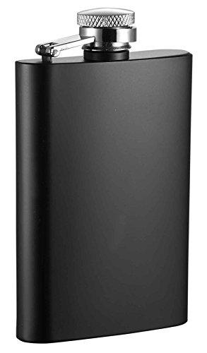 Visol Mini Stainless Steel Liquor Flask, 4 oz, Black (4oz Liquor Flask)
